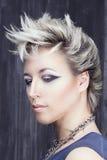 Ritratto di bellezza nello stile punk Fotografie Stock
