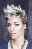 Ritratto di bellezza nello stile punk Fotografie Stock Libere da Diritti