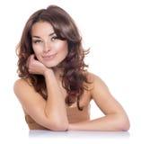 Ritratto di bellezza. Skincare Fotografie Stock Libere da Diritti