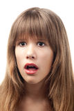 Ritratto di bello adolescente sorpreso Immagine Stock Libera da Diritti