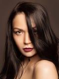 Ritratto di bello Brunette Fotografia Stock