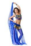Ritratto di bello danzatore di pancia Fotografie Stock
