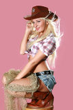 Ritratto di bello giovane blonde sexy Fotografia Stock Libera da Diritti