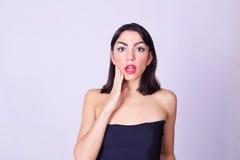 Ritratto di bello latino-americano/giovane donna caucasica Fotografie Stock Libere da Diritti