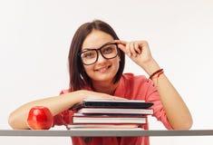 Ritratto di bello studente con i libri Fotografia Stock