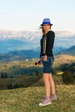 Ritratto di bello turista della donna fotografie stock