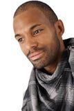 Ritratto di bello uomo Afro-American Fotografia Stock Libera da Diritti