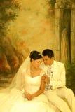 Ritratto di cerimonia nuziale Fotografia Stock Libera da Diritti