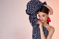 Ritratto di cura di pelle cosmetica del bello fronte perfetto sexy della donna Fotografia Stock