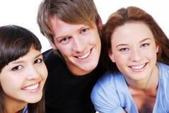 Ritratto di divertimento tre allievi Fotografie Stock
