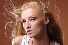 Ritratto di donna abbastanza giovane Immagine Stock Libera da Diritti