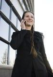 Ritratto di donna abbastanza giovane di affari Fotografie Stock Libere da Diritti