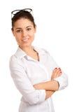 Ritratto di donna di affari abbastanza giovane Fotografia Stock Libera da Diritti