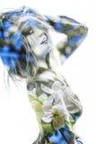 Ritratto di doppia esposizione Fotografia Stock