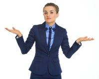 Ritratto di dubbio della donna di affari fotografie stock