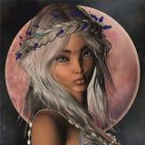 Ritratto di Elf di fantasia illustrazione di stock