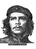Ritratto di Ernesto Che Guevara da soldi cubani Fotografia Stock Libera da Diritti