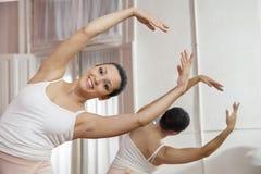 Ritratto di esecuzione felice di ballo di balletto Immagine Stock Libera da Diritti