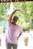 Ritratto di esercitazione senior sorridente della donna Fotografia Stock Libera da Diritti