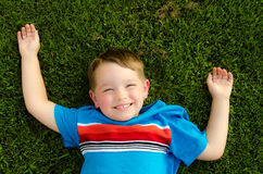 Ritratto di estate del bambino felice Immagini Stock
