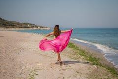Ritratto di estate sulla spiaggia Fotografia Stock
