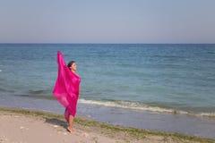 Ritratto di estate sulla spiaggia Fotografie Stock