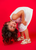 Ritratto di felice, positivo, sorridendo, ragazza Immagine Stock