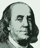 Ritratto di Franklin da cento note del dollaro illustrazione vettoriale