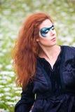 ritratto di Fronte-arte di bella donna Immagini Stock