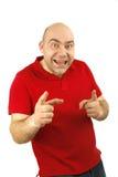 Ritratto di gesto dell'uomo Fotografie Stock