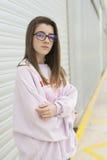 Ritratto di giovane adolescente di 15 anni Immagine Stock Libera da Diritti