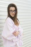 Ritratto di giovane adolescente di 15 anni Fotografie Stock Libere da Diritti