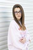 Ritratto di giovane adolescente di 15 anni Immagine Stock
