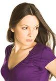 Ritratto di giovane bella donna Immagini Stock Libere da Diritti