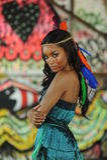 Ritratto di giovane bella donna cherokee indiana Fotografia Stock Libera da Diritti