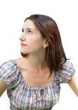 Ritratto di giovane bella donna del brunette Fotografie Stock Libere da Diritti