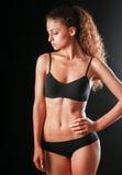 Ritratto di giovane bella donna di forma fisica fotografia stock