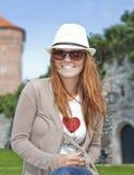 Ritratto di giovane bella donna sorridente Immagine Stock Libera da Diritti
