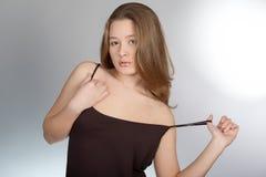 Ritratto di giovane bella ragazza Fotografie Stock