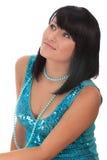 Ritratto di giovane bello brunette Immagini Stock Libere da Diritti