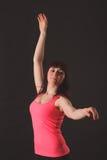 Ritratto di giovane bello dancing della donna Immagini Stock
