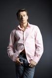 Ritratto di giovane bello uomo Immagine Stock
