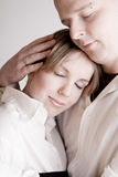 Ritratto di giovane coppia amorosa relaxed Fotografia Stock