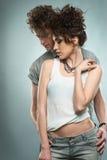 Ritratto di giovane coppia bella Fotografia Stock