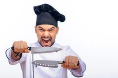 Ritratto di giovane cuoco bello Immagini Stock Libere da Diritti