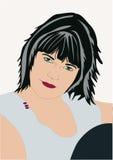 Ritratto di giovane donna. royalty illustrazione gratis