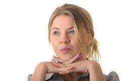 Ritratto di giovane donna (allievo o donna di affari) Fotografia Stock