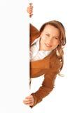 Ritratto di giovane donna attraente Fotografie Stock Libere da Diritti