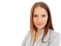 Ritratto di giovane donna attraente di affari Fotografie Stock