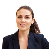 Ritratto di giovane donna attraente di affari fotografie stock libere da diritti